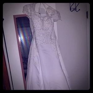 Custom Oleg Cassini wedding dress